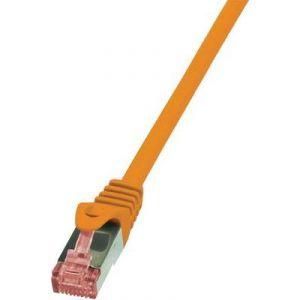 Logilink CQ2048S - Câble réseau RJ45 CAT 6 S / FTP 1,50 m Orange