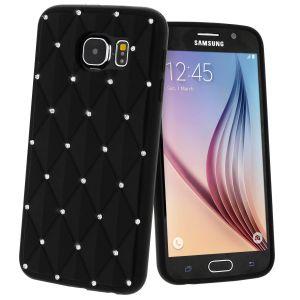 Avizar SILI-MINISTRASS-BK-G920F - Coque fantaisie Diamant Strass pour Samsung Galaxy S6