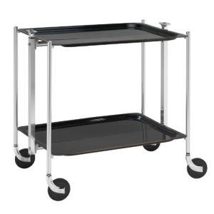 Platex Table roulante pliable 2 plateaux