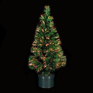 Sapin de Noël artificiel lumineux en fibre optique (120 cm)