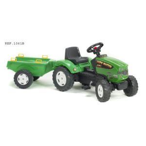 Falk Tracteur à pédales Farm Master 680I et remorque