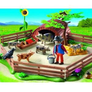 Playmobil 5122 - Enclos et éleveur de cochons