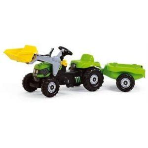Rolly Toys Tracteur à pédales Deutz avec chargeur et remorque