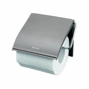 Brabantia 477300 - Porte-rouleau pour papier toilette avec rabat