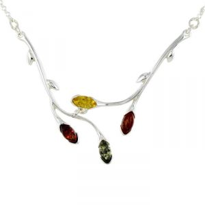 Rêve de diamants COBA01040 - Collier en argent 925/1000 et ambre véritable