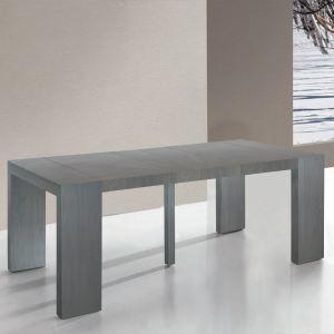 Menzzo Table console Lasso 3 rallonges en bois