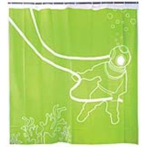 Kikkerland Rideau de douche 20.000 lieux sous la mer (180 x 200 cm)