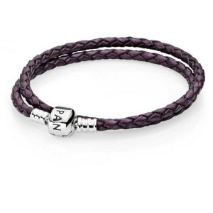 Pandora 590705CPE-D3 - Bracelet pour femme double tour en cuir en argent 925°
