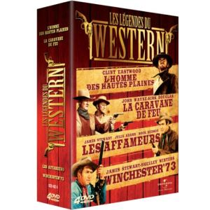 Coffret Les Légendes du western - L'homme des hautes plaines + La caravane de feu + Winchester 73 + Les affameurs