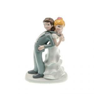 Chaks 80180 - Figurine en résine Couple de mariés par la cravate (17 cm)