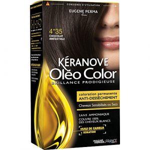 Kéranove Oléo Color 4.35 Chocolat irrésistible - Coloration permanente anti-dessèchement