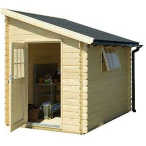 universo bois ca2850 abri de jardin monopente en bois 28 mm 1 96 x 3 12 m comparer les prix. Black Bedroom Furniture Sets. Home Design Ideas
