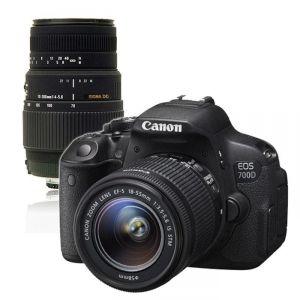 Canon EOS 700D (avec 2 objectifs 18-55mm et Sigma 70-300mm)