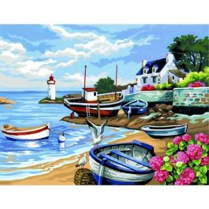 Oz international Peinture au numéro : Rivage breton