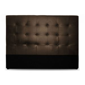tete de lit en cuir marron comparer 96 offres. Black Bedroom Furniture Sets. Home Design Ideas