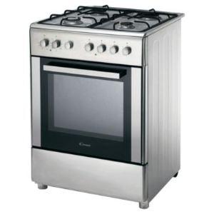 Candy CBCG6-543 - Cuisinière mixte 4 foyers gaz avec four électrique