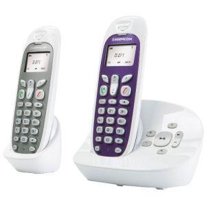 Sagem D271A Duo - Téléphone sans fil avec répondeur 2 combinés