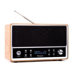 Auna Charleston - Radio numérique DAB FM/AM RDS réveil