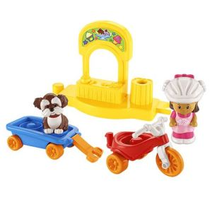 Fisher-Price Tricycle et chariot Little People