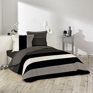 La Maison d'Amélie Romeo - Parure de couette 100% coton 57 fils (220 x 240 cm)