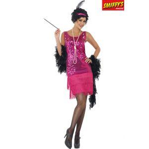 Smiffy's Déguisement charleston robe rose