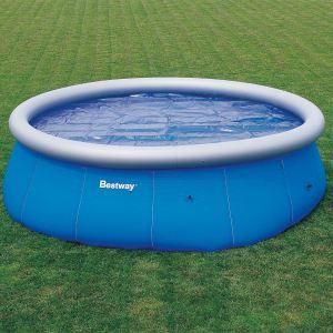 Bestway 58065 - Bâche à bulles Ø 381 cm pour piscine autoportante ronde Ø 457 cm