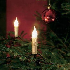 Konstsmide Guirlande de sapin givrée avec effet cire (20 lampes)