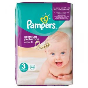 Pampers Active Fit taille 3 Midi 4-9 kg - 46 couches