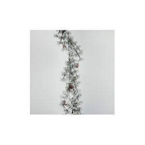Renaud Distribution Ecorce - Guirlande en plastique sapin enneigé (155 cm)