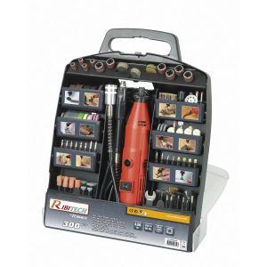Ribitech PROMKIT300 - Coffret mini perceuse et 300 accessoires