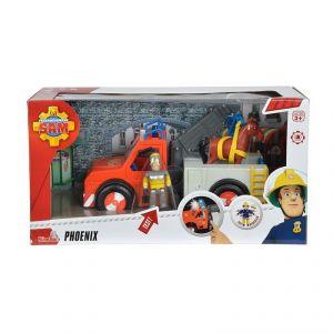 Simba Toys 109258280 - Le véhicule d'urgence Phoenix de Pompier Sam