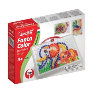 Quercetti Jeu de mosaïques - Fantacolor Portable Large (270 clous)