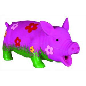 Trixie Cochon en latex avec motifs fleurs pour chien