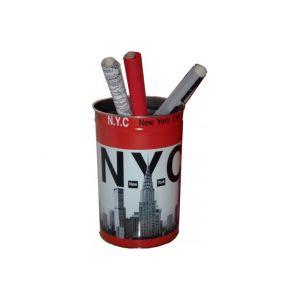 Pierre henry Corbeille à papier métal New York  33 L