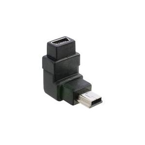 Delock 65096 - Adaptateur mini USB mâle vers femelle coudé 90°