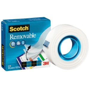 Scotch 8111933R - Rouleau d'adhésif invisible repositionnable Magic II (19 mm x 33 m)