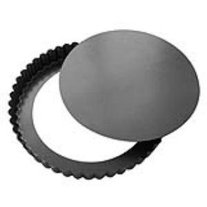 Image de De Buyer 4706.28 - Moule à tarte cannelée droite démontable (28 cm)