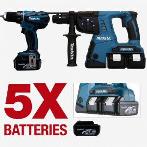 makita perforateur 36v comparer 35 offres. Black Bedroom Furniture Sets. Home Design Ideas