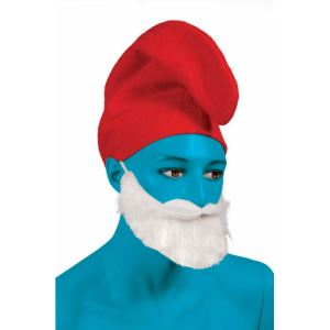 Ptit Clown Bonnet de Schtroumpf en feutrine rouge