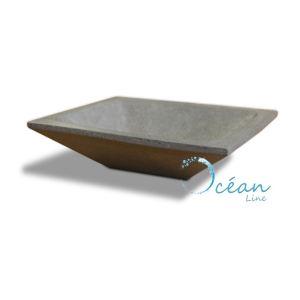 Ocean line Vasque à poser Quadra rectangle