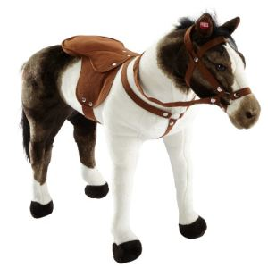 Happy People Peluche Cheval debout robe pinto avec son charge maximale 100 kg