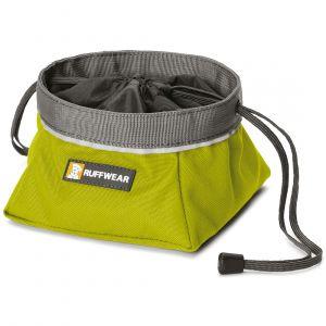 Ruffwear Gamelle de voyage pour chien Quencher Cinch Top vert - Sac 1 l