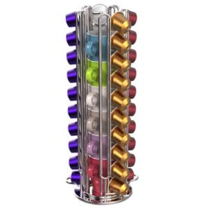 Tavola swiss Rondo - Distributeur de capsules rotatif  40 capsules + 6 tasses pour machines Nespresso