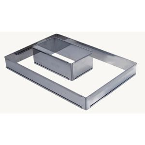 De Buyer 3014.21 - Cercle à entremets ajustable rectangle en inox (21 à 40 cm)