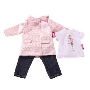 Gotz Manteau, jean et t-shirt pour poupée (45-50 cm)