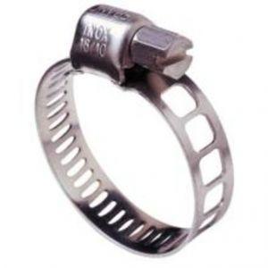 Bossard 1142534 - Collier de serrage bande ajourée Acier Zingué DIN 3017 Ø16-27 mm