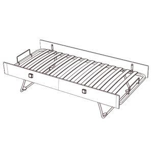 lit sauthon zen blanc comparer 43 offres. Black Bedroom Furniture Sets. Home Design Ideas