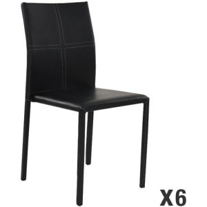 Atia - 6 chaises empilables