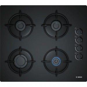 Bosch POP6B6B10 - Table de cuisson en verre gaz 4 foyers