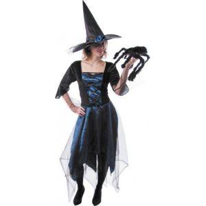 Déguisement sorcière bleue nuit femme Halloween